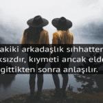 Arkadaşlık Sözleri Kısa
