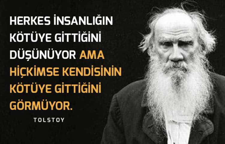 Ruz Yazar Tolstoy Sözleri