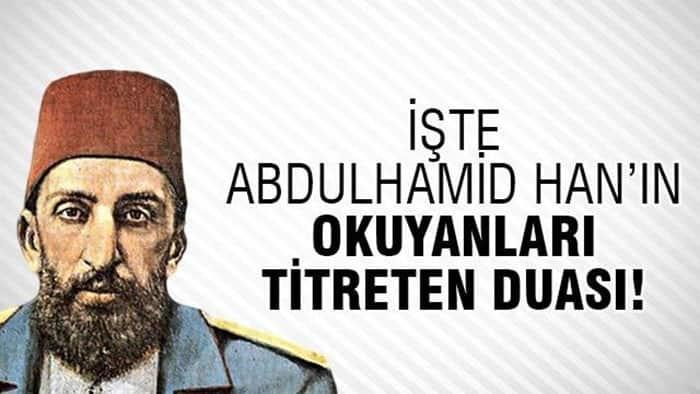 Sultan Abdülhamid Han Duası