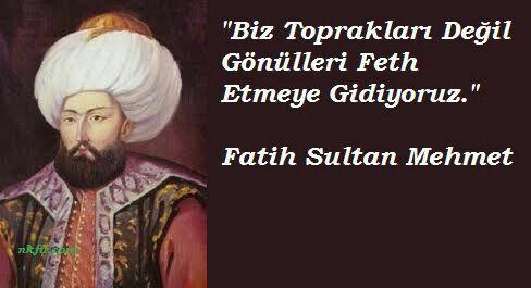 Resimli Fatih Sultan Mehmet Sözleri