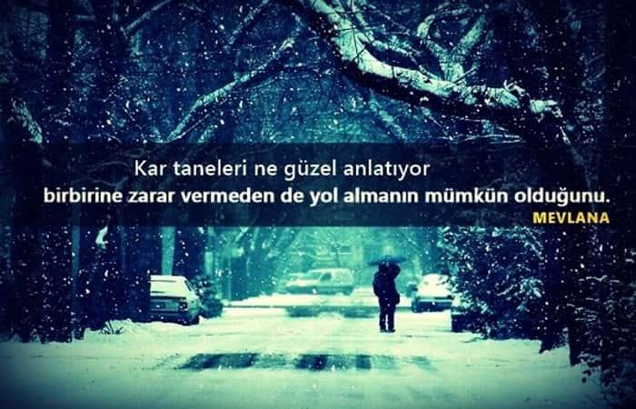 En güzel kar kış sözleri
